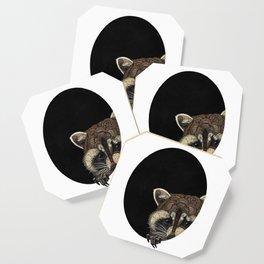 Socially Anxious Raccoon Coaster