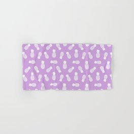 Purple Pineapple Pattern Hand & Bath Towel