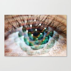 Green Eyed Beauty Canvas Print
