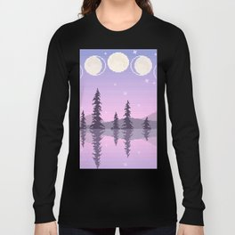 Fading Moon Phases Long Sleeve T-shirt