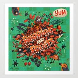 Berries and Fruits Art Print