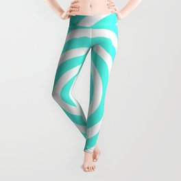 Circles (Turquoise & White Pattern) Leggings