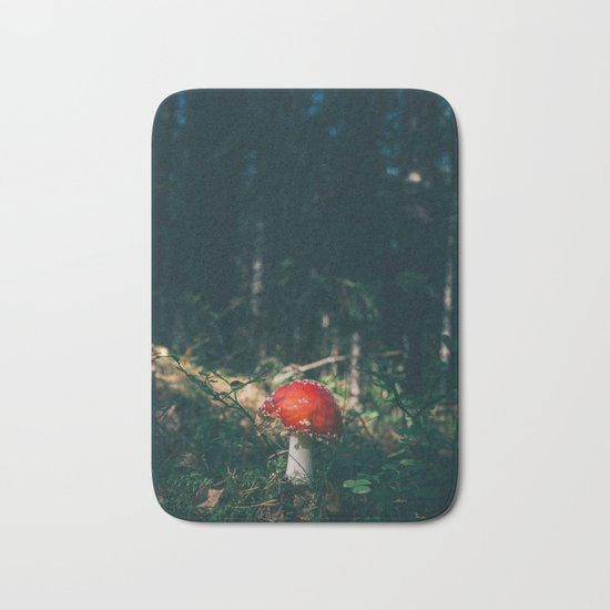 Little Red Mushroom in the Forest Bath Mat