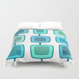 MidCentury Modern Swatches (Turquoise) Duvet Cover