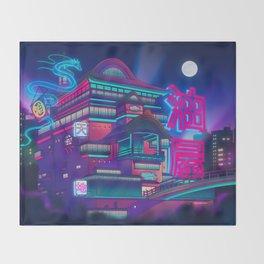 Neon Bath House Throw Blanket