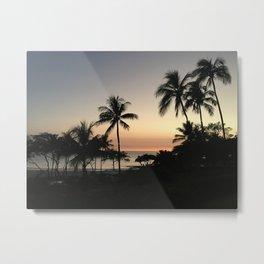 Sunset in Hapuna Beach Metal Print