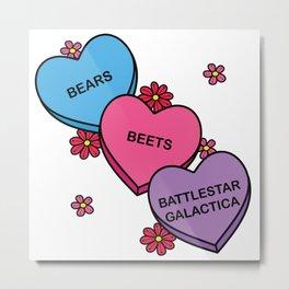 Bears. Beets. Battlestar Galactica. Metal Print