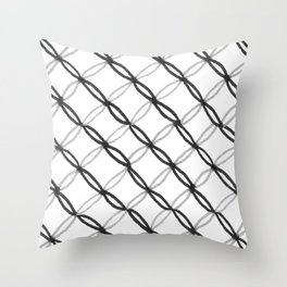 Leafy Grate Pattern Throw Pillow