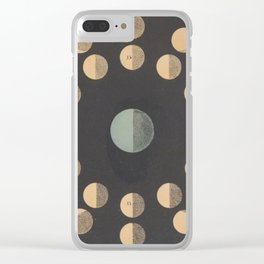 Antique Astronomy Moon Phases Clear iPhone Case