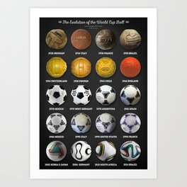 The World Cup Balls Art Print