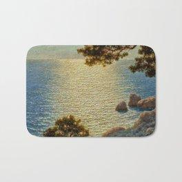 Classical Masterpiece 'Amalfi Coast, Italy' by Ivan Fedorovich Choultse Bath Mat