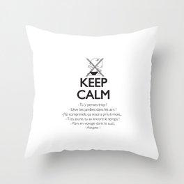 Pas enceinte ? Keep calm ! Throw Pillow