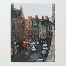 Golden Hour in Edinburgh Poster