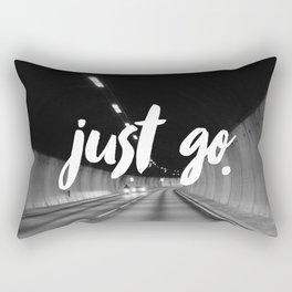 Just Go Rectangular Pillow