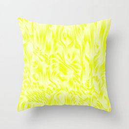 Pastel smudges stains of delicate colors with yellow. Throw Pillow
