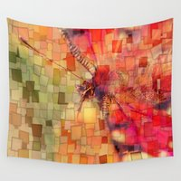 butterfly Wall Tapestries featuring Butterfly   by Aloke Design