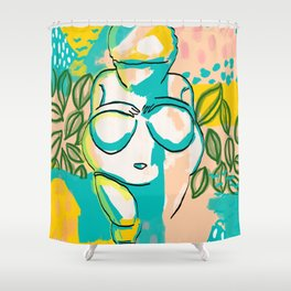 Willendorf Beach Shower Curtain