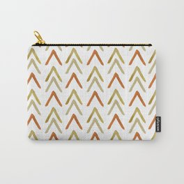 Hand Painted Arrows Pattern - Gold and Neutral Palette Carry-All Pouch