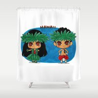 hawaii Shower Curtains featuring Hawaii by sakurajoker