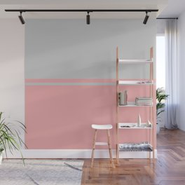 Solid&Solid: Pink + Grey Wall Mural