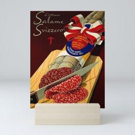 plakate lottimo salame svizzero Mini Art Print