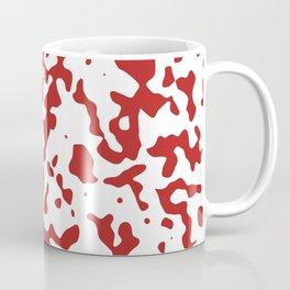 Spots - White and Firebrick Red Coffee Mug