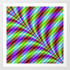 Neon Stripes Art Print