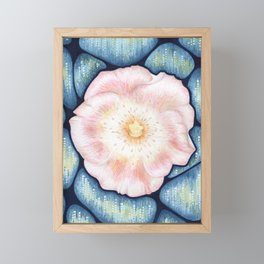 Drifting Rose Framed Mini Art Print