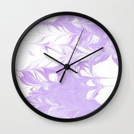 Marble pattern purple and white minimal inked minimalism marbled art Wall Clock