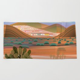 Copper Town (Square) Beach Towel