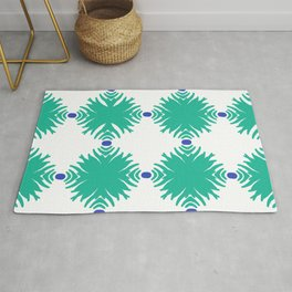 Island Tropical  Garden pattern 4 Rug