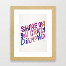 Shine On Your Crazy Diamond – Vintage Palette Framed Art Print