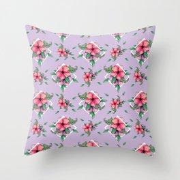 hibiscus 2 Throw Pillow