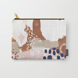 Skadi - metallic painting abstract minimal nursery home decor dorm college art Carry-All Pouch