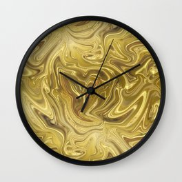 Rich Gold Shimmering Glamorous Luxury Marble Wall Clock