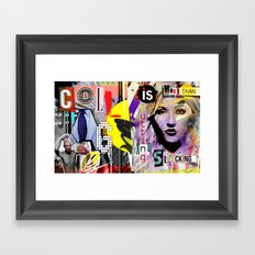 Collage is more than just cutting and sticking. Framed Art Print