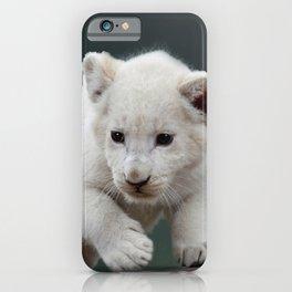 White lion cub iPhone Case