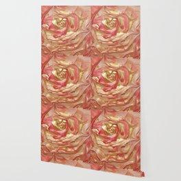 Golden Rose Swirl Wallpaper