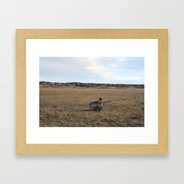 Watched the Mule Run Away for Three Days Framed Art Print