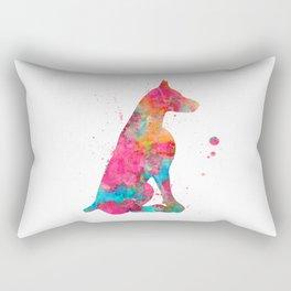Colorful Doberman Rectangular Pillow
