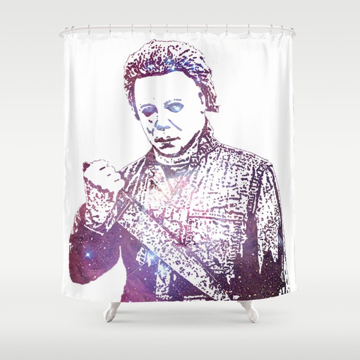 Galaxy Tony Moran Michael Myers Shower Curtain