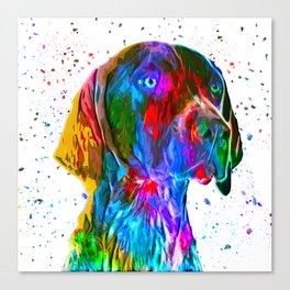 German Shorthaired Pointer Low Poly Canvas Print