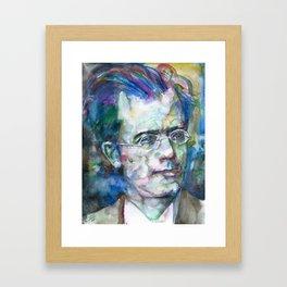 GUSTAV MAHLER - watercolor portrait.3 Framed Art Print