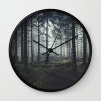 marina and the diamonds Wall Clocks featuring Through The Trees by Tordis Kayma
