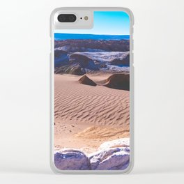Valle de la Luna (Moon Valley) in San Pedro de Atacama, Chile Clear iPhone Case