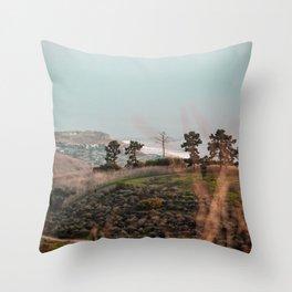 Californian Hillside Throw Pillow