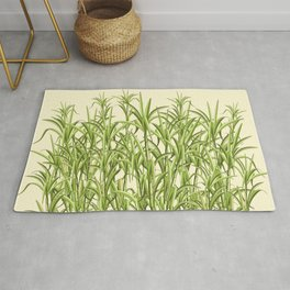 Sugar Cane Exotic Plant Pattern Rug