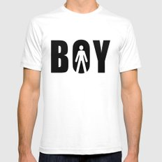 boy SMALL Mens Fitted Tee White