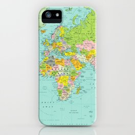 World Map DEsign iPhone Case