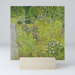 "Gustav Klimt ""Orchard with Roses (Obstgarten mit Rosen)"" Mini Art Print"